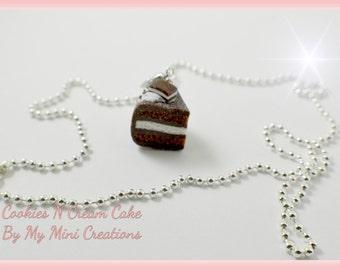 Cookies N Cream Charm Necklace , Miniature food jewelry,  Miniature food,
