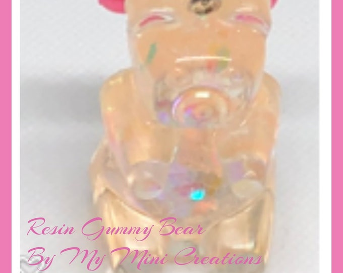 Resin Gummy Bear, Keychain, Kawaii, Cute, Resin
