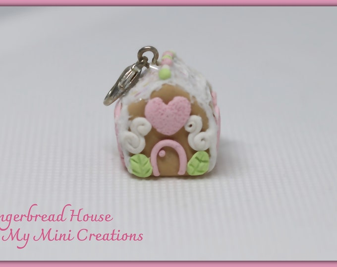 Miniature Gingerbread House , Miniature Food, Food Jewelry, Miniature Food Jewelry,Charm