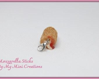 Mozzarella Charm, Miniature Food, Food Jewelry, Miniature Food Jewelry, Ice Cream Charm