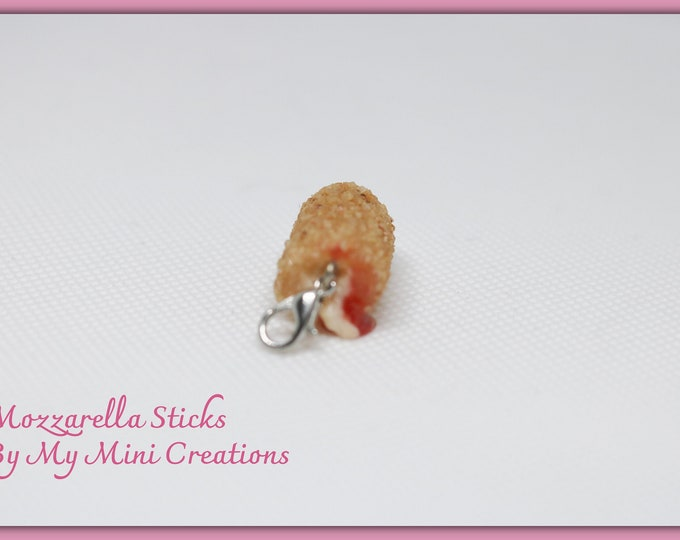 Mozzarella Charm, Miniature Food, Food Jewelry, Miniature Food Jewelry, Ice Cream Charm