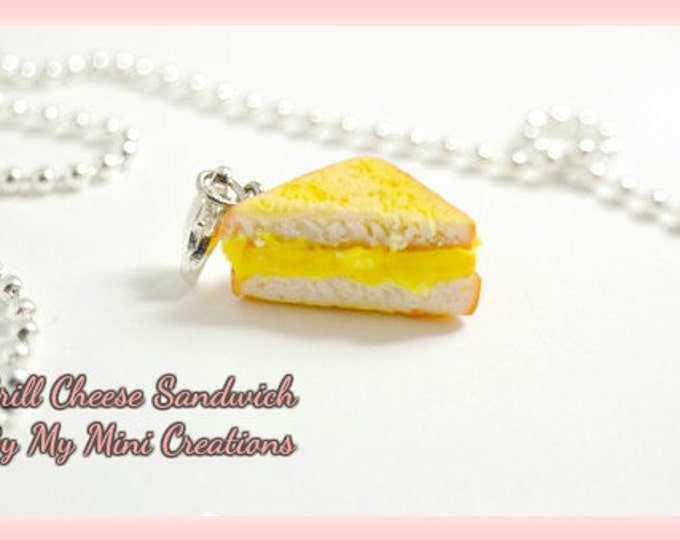 Grill Cheese Sandwich Necklace, Miniature Food, Miniature Food Jewelry, Food Jewelry