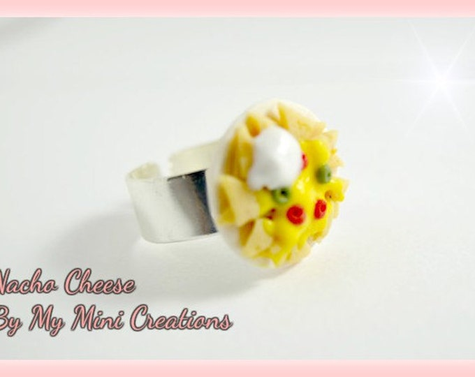 Nacho Cheese Ring, Miniature Food, Miniature Food Jewelry, Food Jewelry