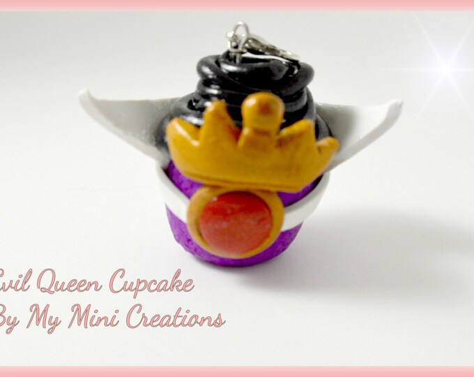 Disney Inspired Evil Queen Cupcake Charm , Miniature food jewelry,  Miniature food,