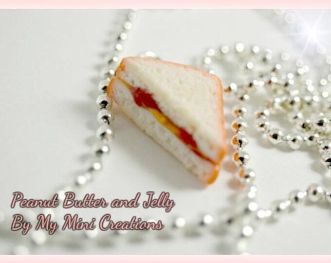 Peanut Butter & Jelly Sandwich Necklace, Miniature Food, Miniature Food Jewelry, Food Jewelry