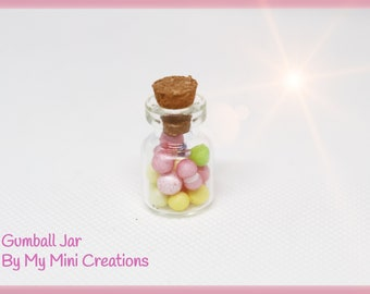 Gumball Charm, Miniature Food, Food Jewelry, Miniature Food Jewelry, Ice Cream Charm