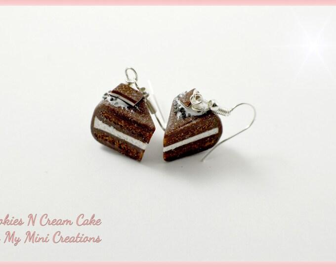 Cookies N Cream Earrings , Miniature food jewelry,  Miniature food,