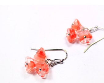 pink dangles earrings - 925 silver hook - mini rose marble earrings teacher gifts - summer peach jewelry for daughter  - gifts for grandma