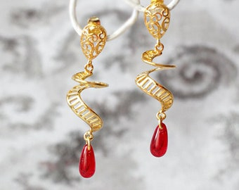 Earrings Glass and Stone