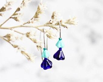 Turquoise Earrings Gift for Daughter - Summer Boho Jewelry for Women Birthday Gift 25 - Green Blue Earrings Minimal - Bright Fashion Earring