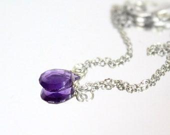 Amethyst Bracelet for Sister - Purple Bracelet For Women Gift - Simple Modern Bracelet Mini Dainty Jewelry Silver - February birthdays Gift