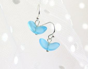 Light Blue Earrings Small Lollipops Jewelry Gifts for Little Sister - Dangle Earrings Original Jewelry Gifts for Her Birthday - Blue Jewelry