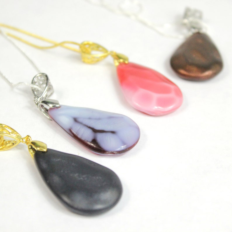 Big Drop Necklaces Colorful Jewelry Copper Teardrop Necklace Mosaic Jewelry Multicolor Necklaces Original Pink Jewelry Gifts for Sister