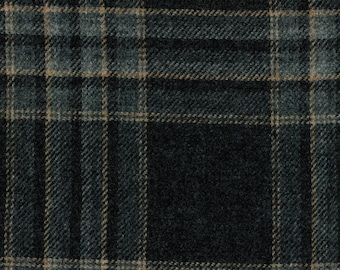 1644//63  Scottish Tweed Fabric 100/% Pure Wool By The Metre Reversible