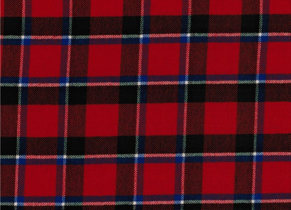 Gow Modern Tartan Fabric 100/% Pure Wool Made in Scotland 10oz Lightweight Cloth