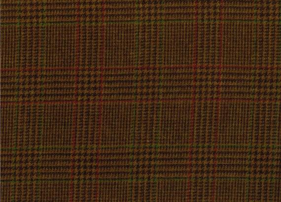 MOON brown pure wool tweed  width 150 cm per metre