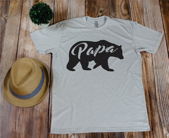 64e676b11 Papa bear first fathers day shirt for father dad shirt papa | Etsy