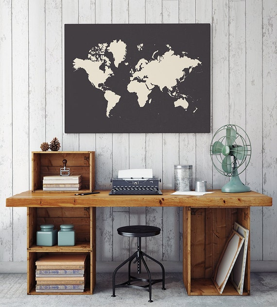 World Map Print - PRINTABLE FILE. Large World Map Poster. Travel Printable.  Travel Decor. Bohemian Bedroom Decor. Oversized World Map.