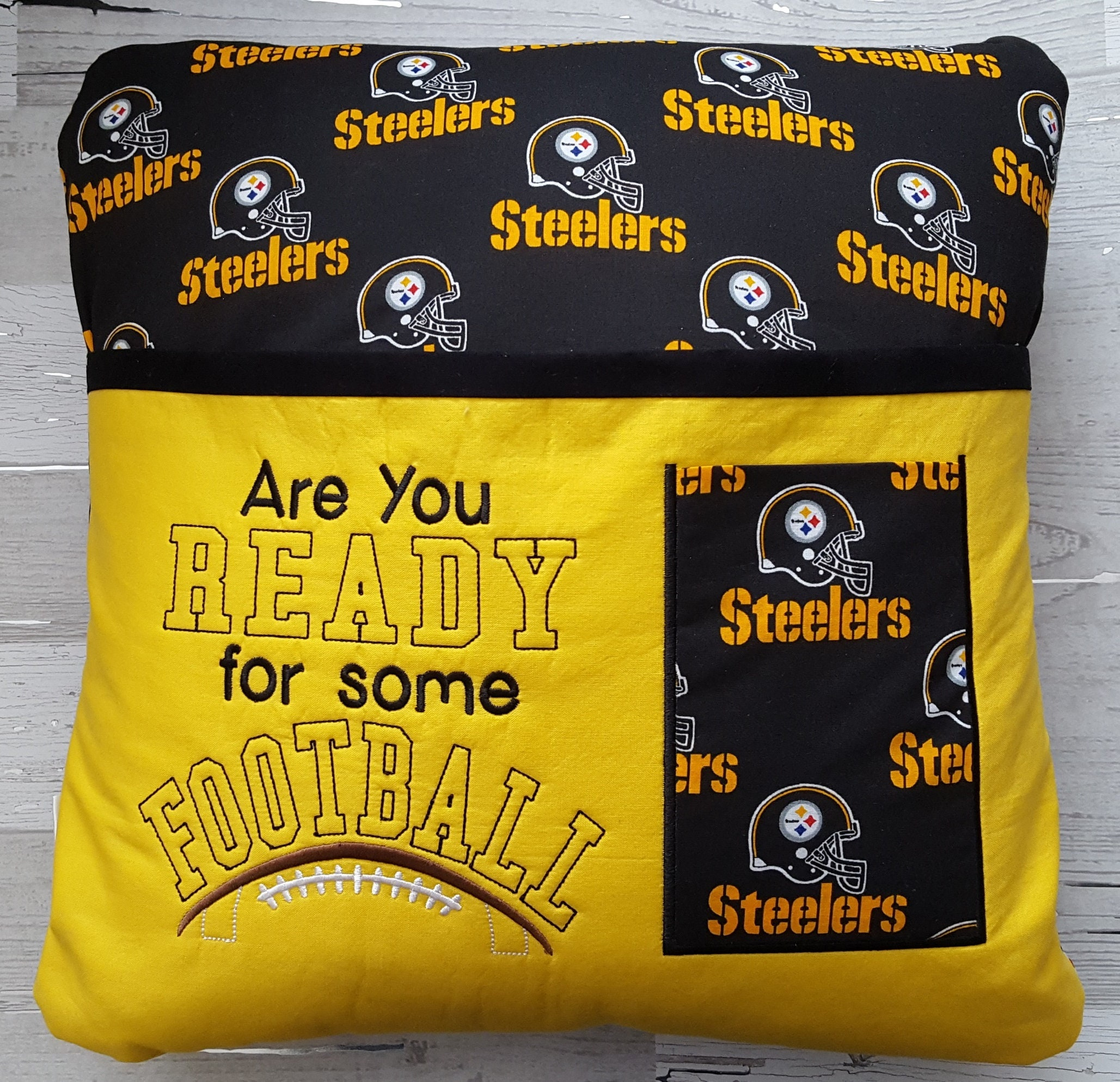 Football Pillow Pittsburgh Steelers Remote Pillow Reading