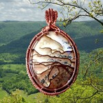 Wire Wrapped Tutorial: Wire Wrapped Down In The Valley Pendant