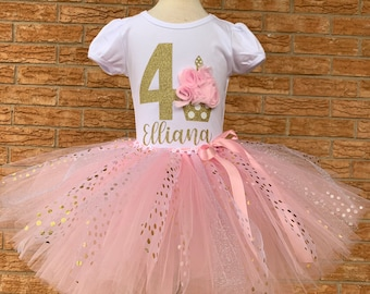 Three Floral skirt Floral Birthday Outfit Three Birthday Outfit Wreath Shirt First Birthday Two Light Pink Green and Light Blue One