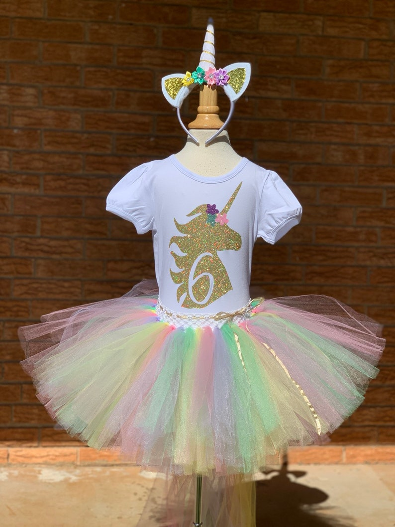 30f1aa2386 Sixth unicorn birthday outfit 6th Birthday tutu rainbow | Etsy