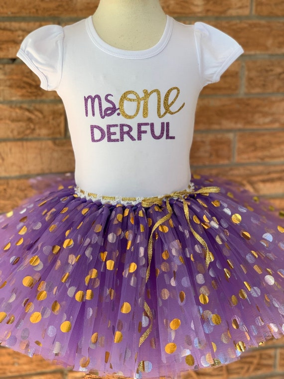 Ms ONEderful 1st Birthday Outfit Girls 1 Year Old