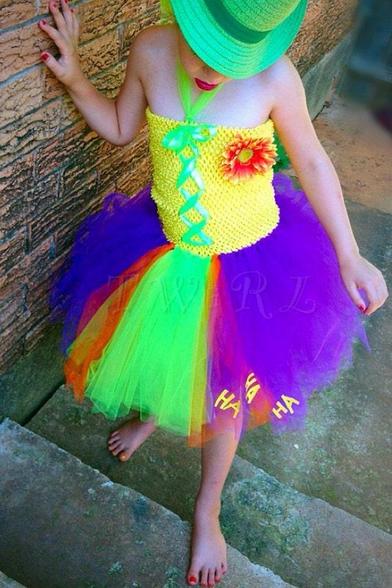 Mädchen-Clown-Kostüm Clown Kleid Bösewicht Tutu Bösewicht