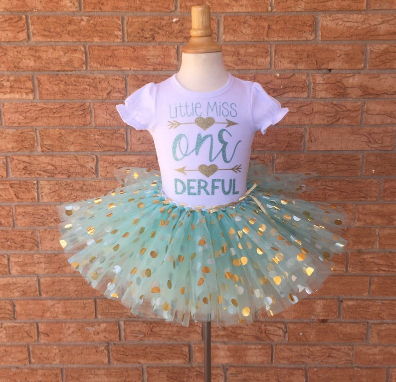 Little Miss ONEderful 1st Birthday Outfit Girls 1 Year Old
