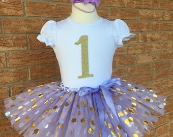 lavender first birthday, smash cake outfit, first birthday tutu, one year old birthday set, first birthday shirt, purple birthday