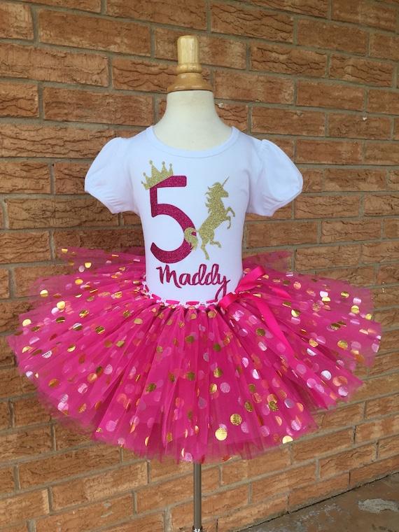 Fifth Unicorn Birthday Shirt 5th Outfit Girls