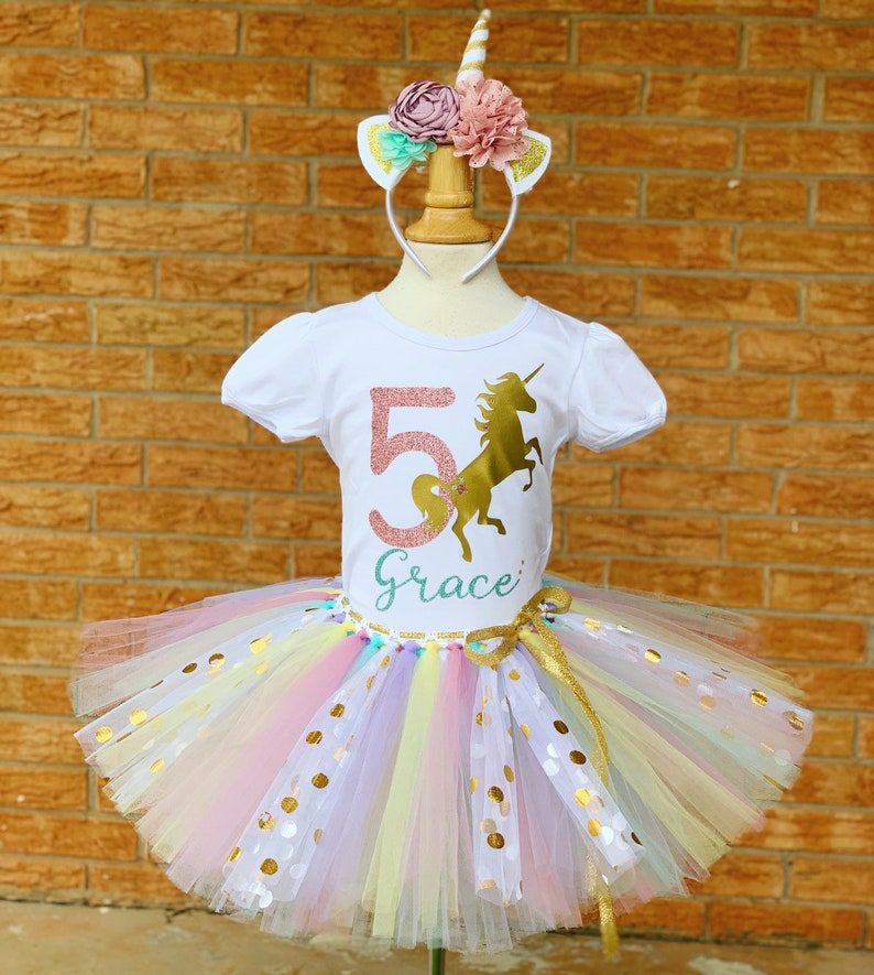 Girls Fifth Birthday Outfit Shirt 5th