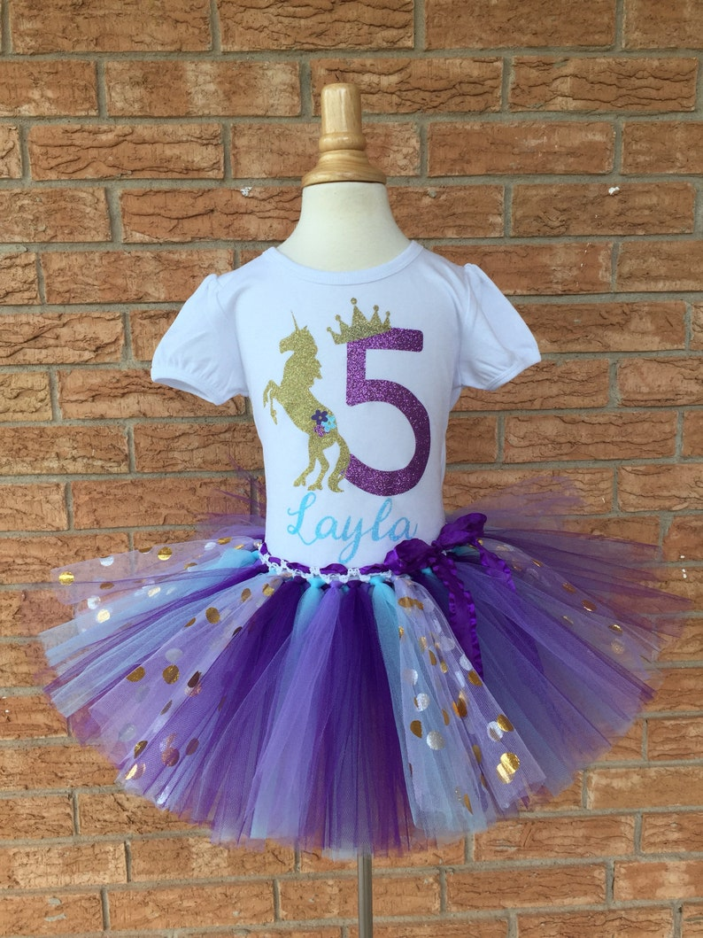 Fifth Birthday Shirt Blue And Purple 5th Outfit