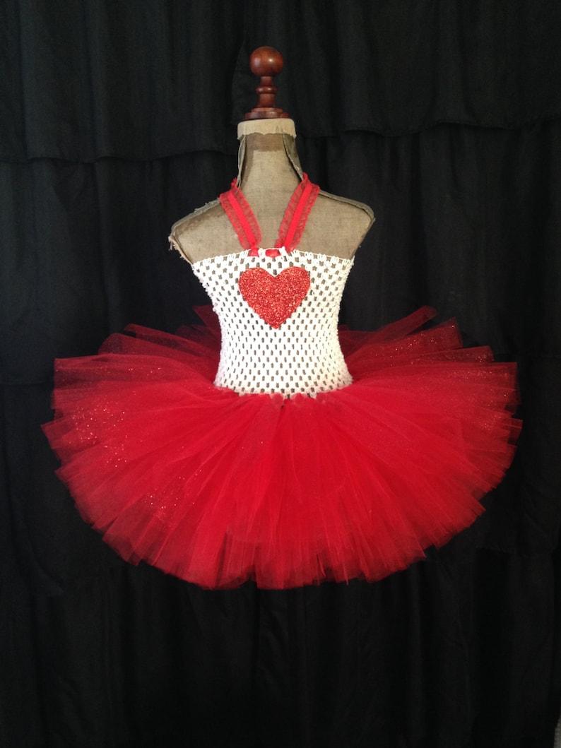2b4e4c306f14 Valentine's tutu dress red and white tutu red and white | Etsy