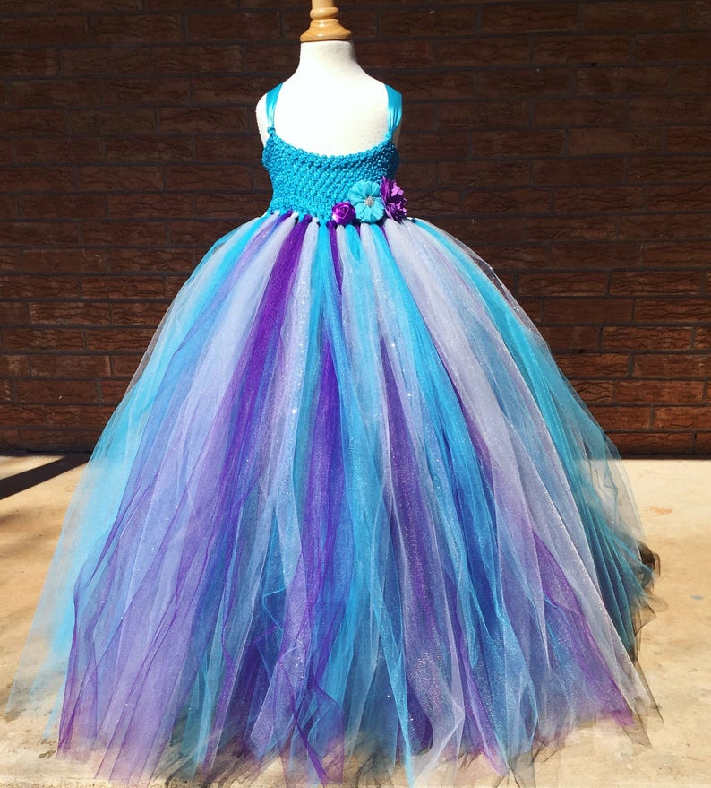 c24758a52 Turquoise flower girl dress malibu blue tutu dress flower | Etsy