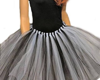 53e7b498f Adult or Child Black and White Tutu Skirt