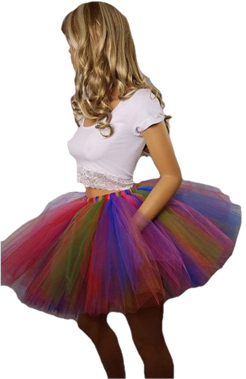 Adult or Child Festive Rainbow Tutu image 0