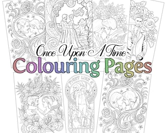 Once Upon A Time Adult Colouring Pages
