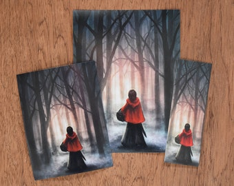 Red Riding Hood - art prints and bookmark