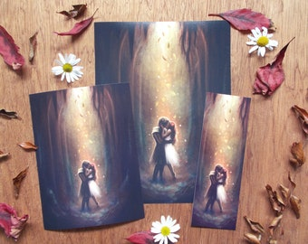 Winter's nigh - Hades and Persephone art prints and bookmark