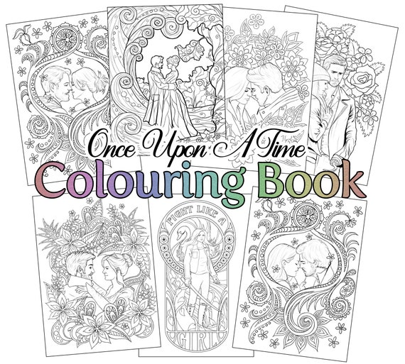 Once Upon A Time adult colouring book | Etsy
