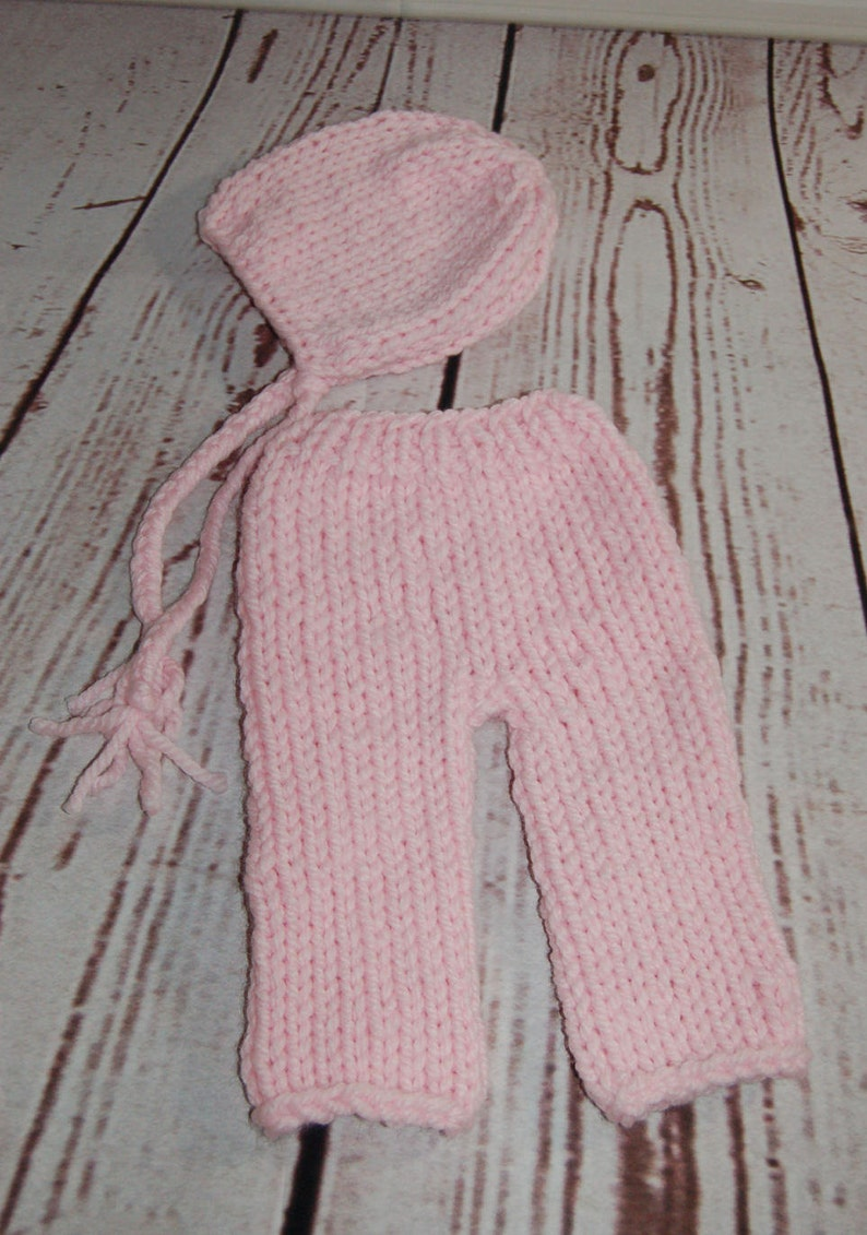 Pants Newborn Clothing Baby Girl Costume Knit Outfit Bonnet Cosplay Baby Outfit Photo Prop Newborn Photo Outfit Knit