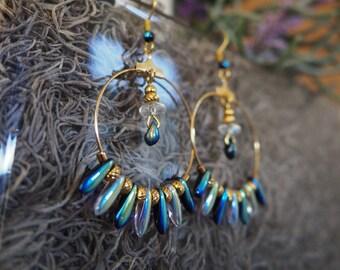 Twilight Rain Hoop Earrings