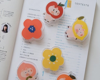 Zengxiaoe | Jobbo series clear acrylic paper clips bookmarks - accessories for planner/journal/notebooks/hobonichi/album/home decor
