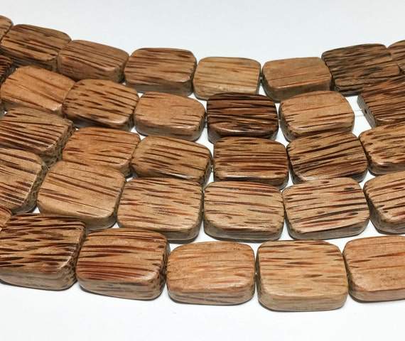 10mm x 15mm Natural Coconut Palmwood Oval Premium Wood Beads 25 beads per pack