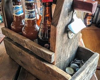 Rustic Beer Caddy / 6 pack holder