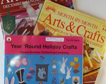Arts & Crafts for All Ages: Set of Three Instructional Books