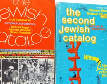 The Jewish Catalog: Set of Two Valuable Sources & Resources for Living a Jewish Life including Photographs and Valuable Marginalia, 1970s