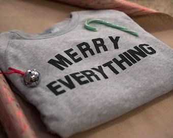 Merry Everything Holiday Fleece Sweatshirt