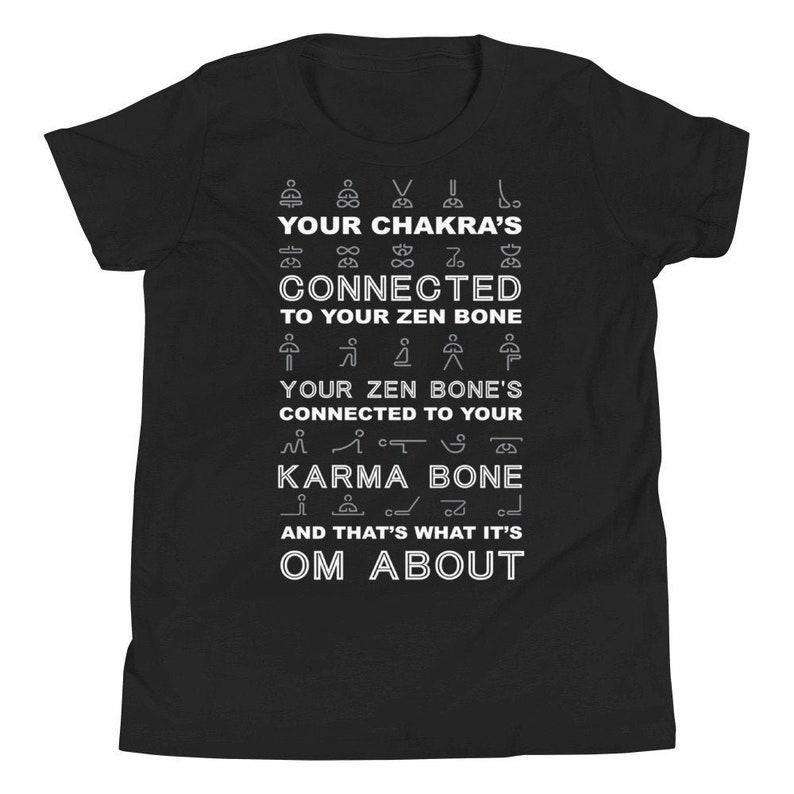 Chakra Kids Yoga Youth Short Sleeve T-Shirt image 0